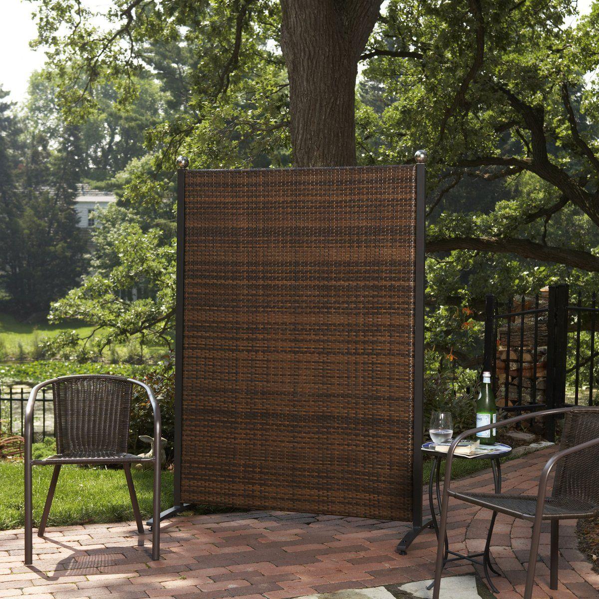 Versare Outdoor Wicker Resin Room Divider   Outdoor Privacy Screens At  Hayneedle $150