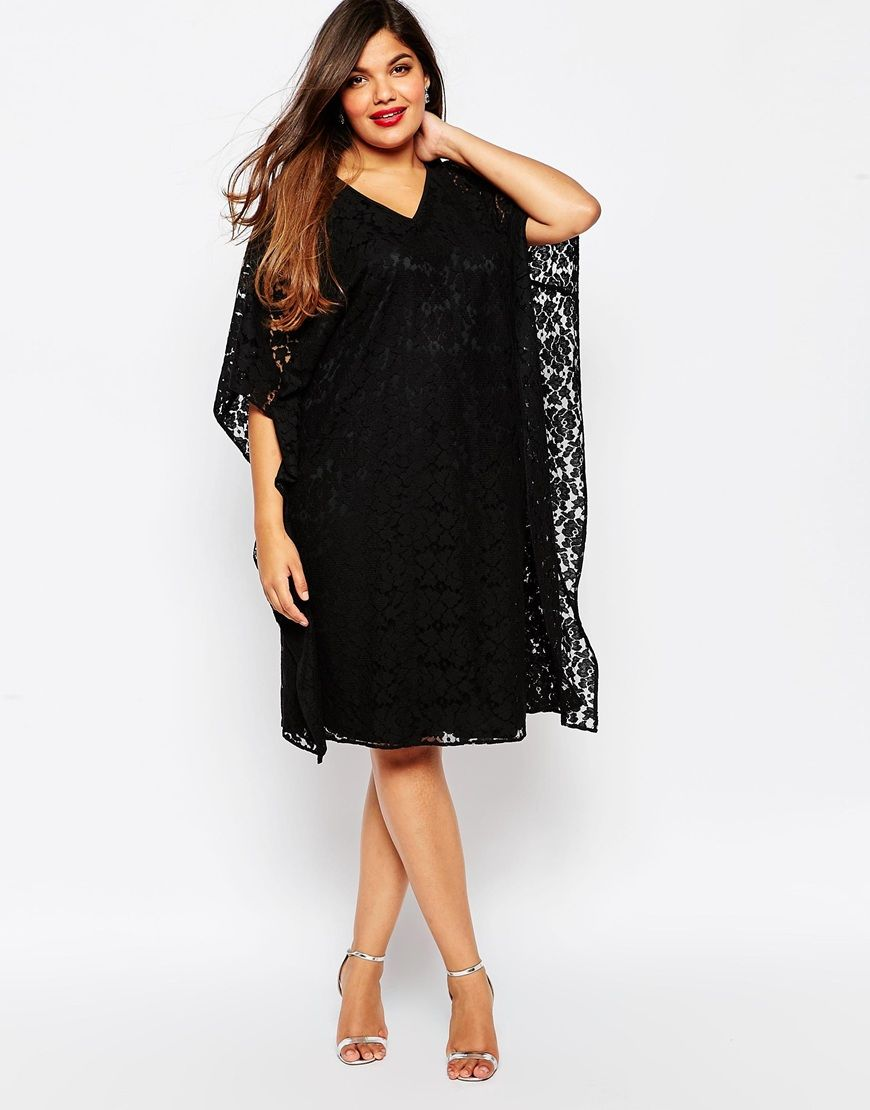 image 4 asos curve robe kimono en dentelle les indispensables mode pinterest robes de. Black Bedroom Furniture Sets. Home Design Ideas