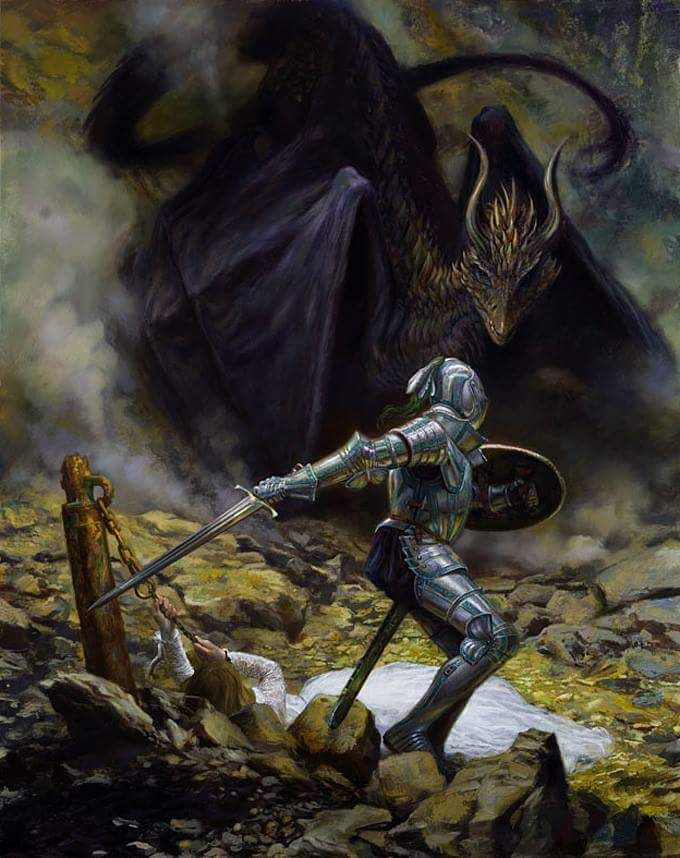 St George & The Dragon by Donato Giancola