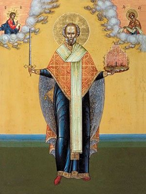 St Nicholas the Wonderworker (Mozhaisk), 6×8, $4.00, Catalog of St. Elisabeth Convent. #CatalogOfGoodDeed #handmade #buy #order #icon #saints #church #orthodox #Christianity #wood #ecclesiastical #nicholas