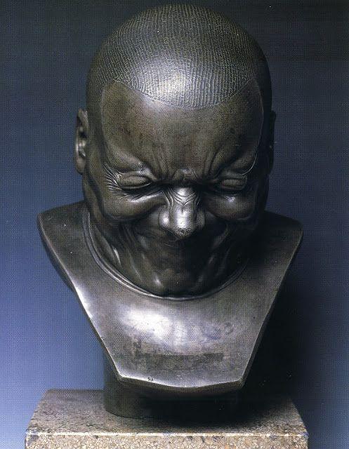 Franz Xavier Messerschmidt, Villain in Metal, 1770 – 83, tin lead alloy, 38.5 cm in height.    Austrian Gallery Belvedere, Vienna