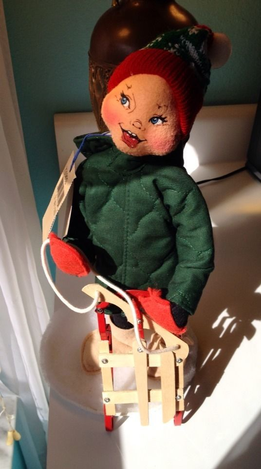Adorable Annalee Doll, 13-inch Bob\'s Sled, Made in USA | Vintage For ...