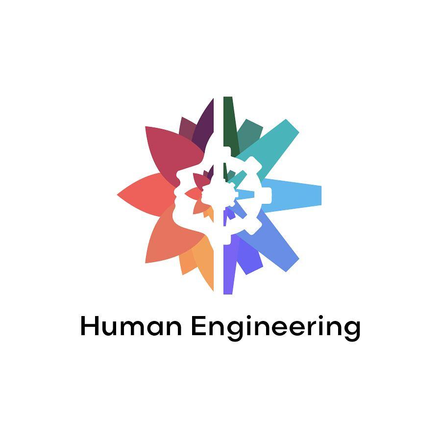 Human engineering logo Halfhalf #logo #logodesigns #design ...