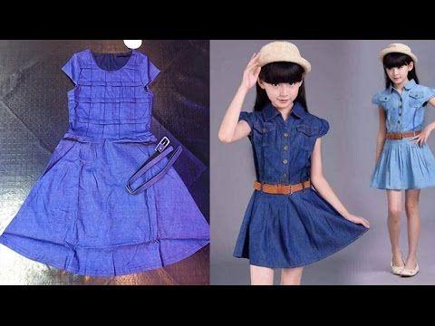 0b789ae13b44 beautiful Baby Frock best baby frock denim shirt Cutting Stitching ...