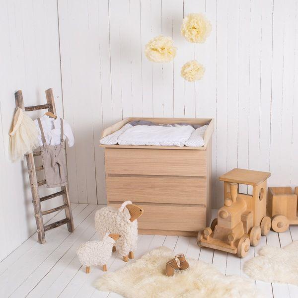 Naturholz Wickelaufsatz Fur Ikea Malm Kommode Ikea Malm
