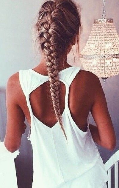 Popular On Pinterest 7 Different French Braids Hair Styles Sporty Hairstyles Long Hair Styles