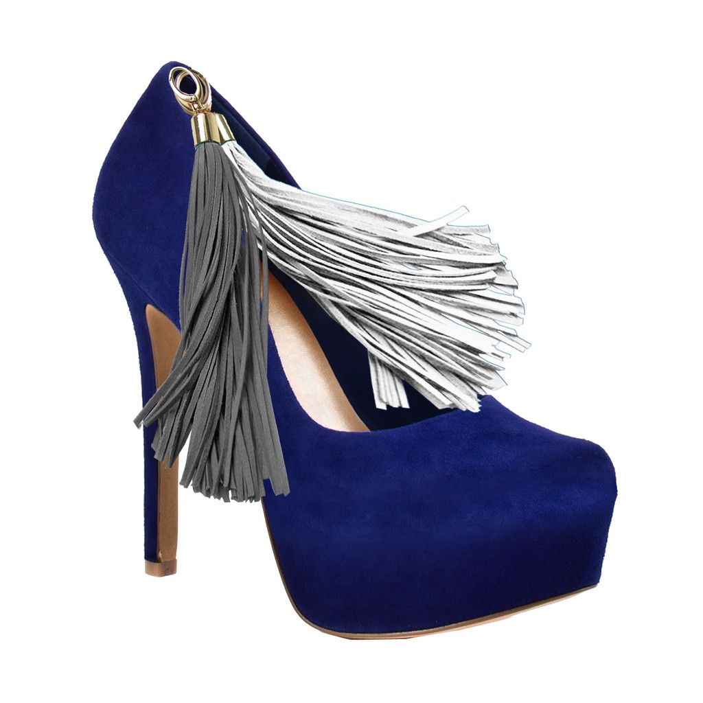 Blue Team Color Pom Pom High Heel Suede Pumps by HERSTAR | These pair perfectly with your favorite Houston Texans, Indianapolis Colts, Buffalo Bills, New York Giants, New England Patriots, Kansas Jayhawks, Ole Miss, Arizona University, San Diego Chargers, Southern Jaguars, West Virginia Mountaineers, Chicago Bears, Auburn, Illinois University, Seattle Seahawks, St Louis Rams, Dallas Cowboys,and many other team Jerseys