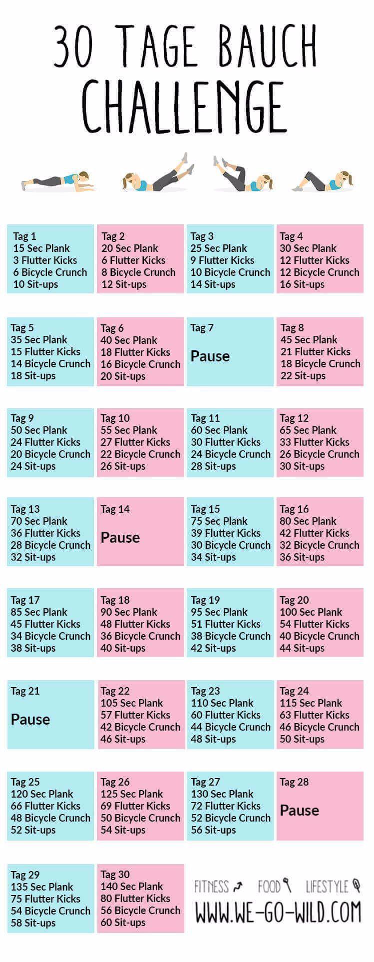 Du willst am Bauch abnehmen und fitter werden? Dann mach mit bei unserer 30 Tage Bauchchallenge. All...