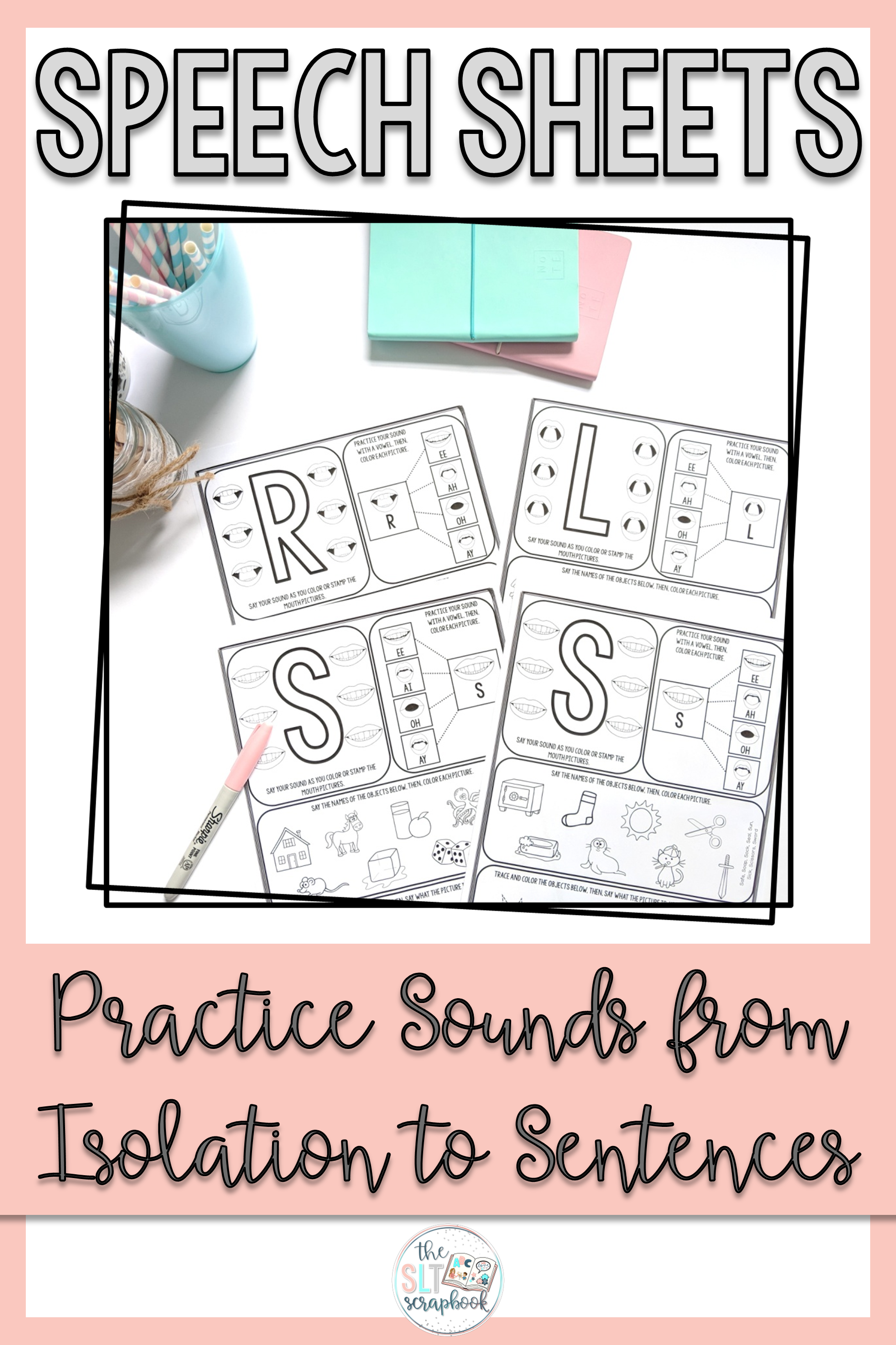 No Prep Speech Sound Worksheets For Speech Therapy