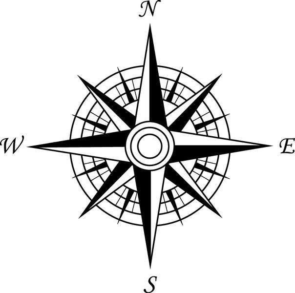 compass rose - Google Search | Siluetas, Tatuajes