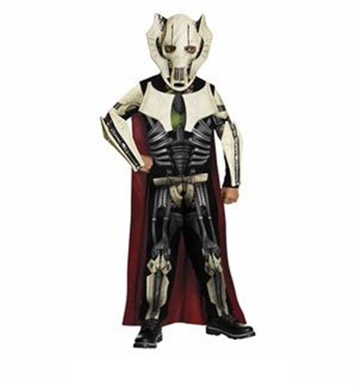 General Grievous Star Wars Clone Commander Fancy Dress Halloween Child Costume