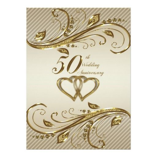 50th Wedding Anniversary Invitation Ideas: 50th Wedding Anniversary Invitation Card
