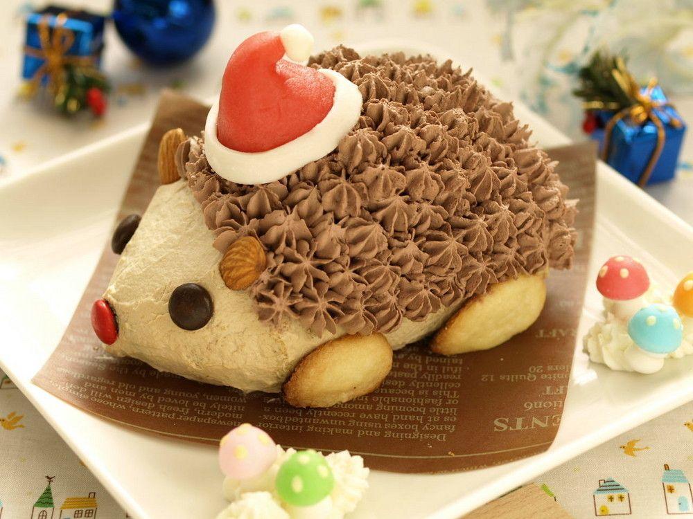 ハリネズミのクリスマスケーキ By みほちんww レシピ フードケーキ ハリネズミケーキ クリスマスケーキ