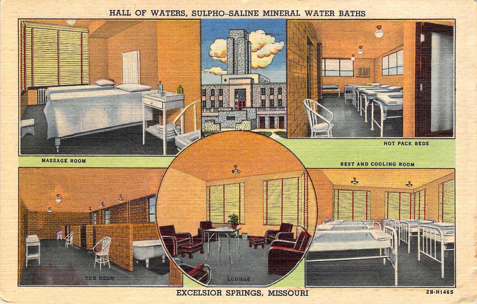 Missouri, MO, Excelsior Springs, Siloam Spring 1908