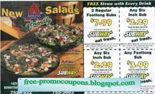 Free Printable Subway Coupons Subway Coupons May 2018 Pinterest