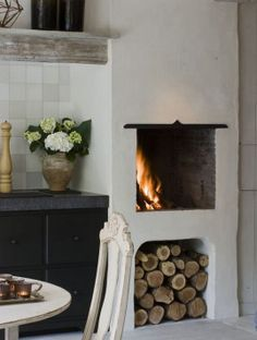 Cozy Kitchen Fireplace Is The Perfect Focal Point This Time Of Year.