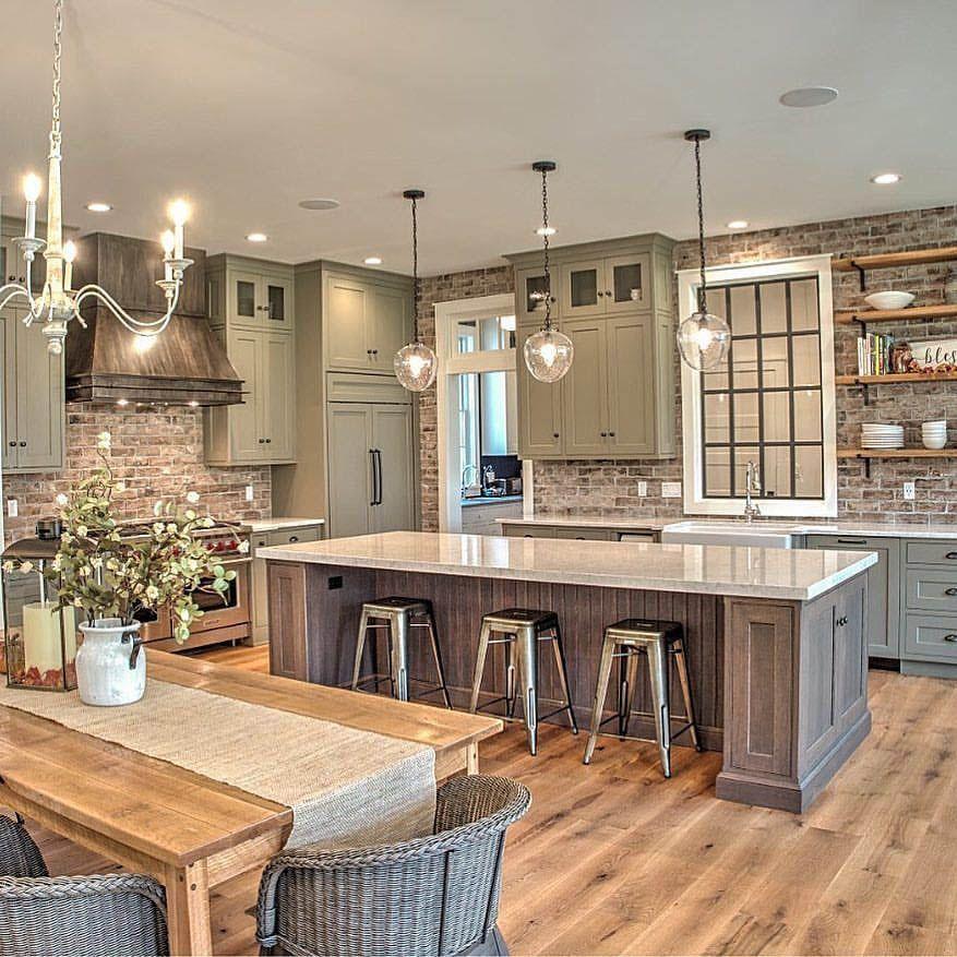 Pretty Kitchen Wall Decor Ideas To Stir Up Your Blank Walls Farmhouse Kitchen Design Farmhouse Style Kitchen Modern Farmhouse Kitchens