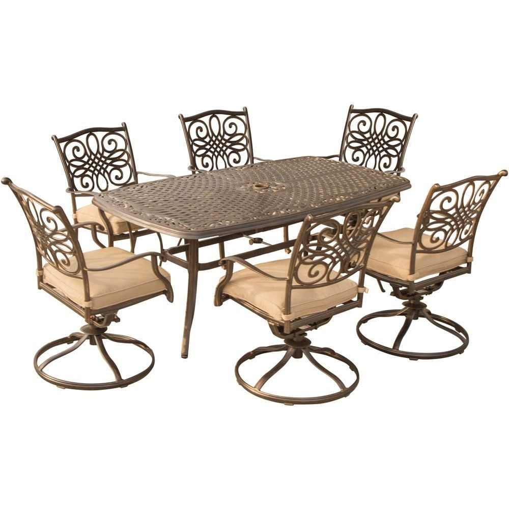 Awe Inspiring Hanover Traditions 7Pc Dining Set 6 Swivel Rockers 38X72 Andrewgaddart Wooden Chair Designs For Living Room Andrewgaddartcom