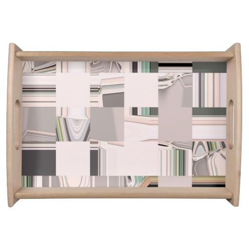 Abstract Art Tiled / Food Serving Tray. Want it cheaper? Also click on this link for free coupon offers! https://www.zazzle.com/coupons?rf=238298069376789985&tc=pin