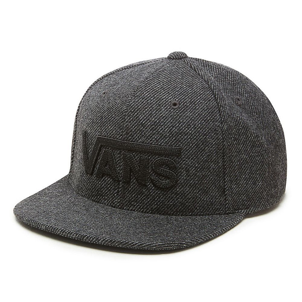 26212bc31f8 The Drop V cap from Vans is a 6-panel twill hat with an adjustable