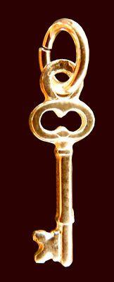Sorority Treasurer's Key 10k Gold Office Dangle NEW