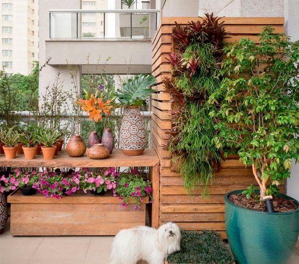 Urban Balcony Garden Ideas Part - 16: Balcony Garden Ideas Small Balcony Design Flower Pots Tree Planter Box Tile  Flooring