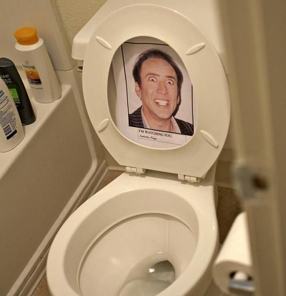 10 Things You Never Want to See in Your Bathroom. 10 Things You Never Want to See in the Bathroom   Nicolas cage