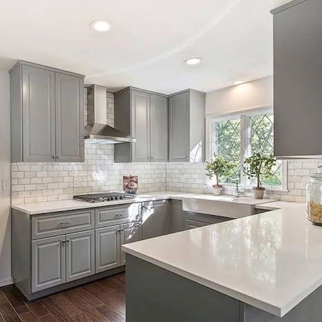 Gorgeous gray kitchen cabinet makeover ideas (28 | Kitchen ...