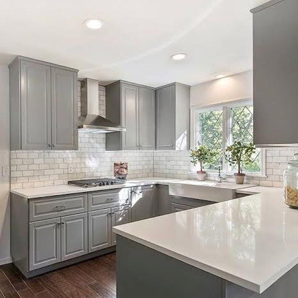 Beautiful Gray Kitchen Cabinet Design Ideas (79