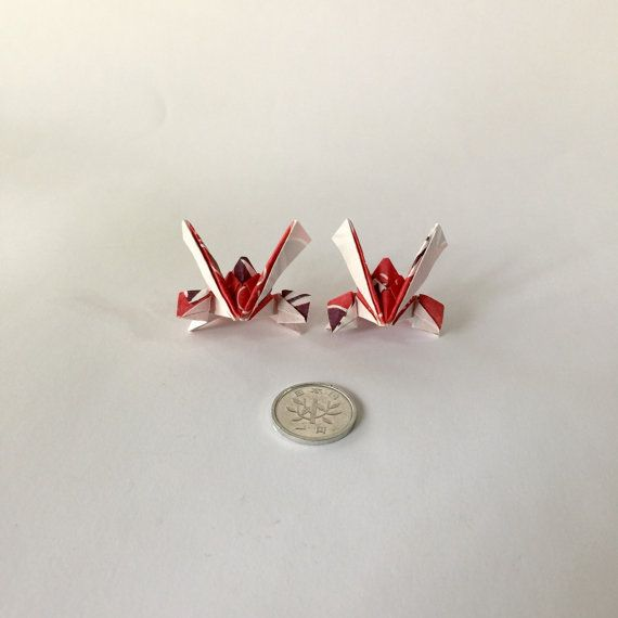 Origami samurai helmet charm for jewelry earrings  by PrwOrigami