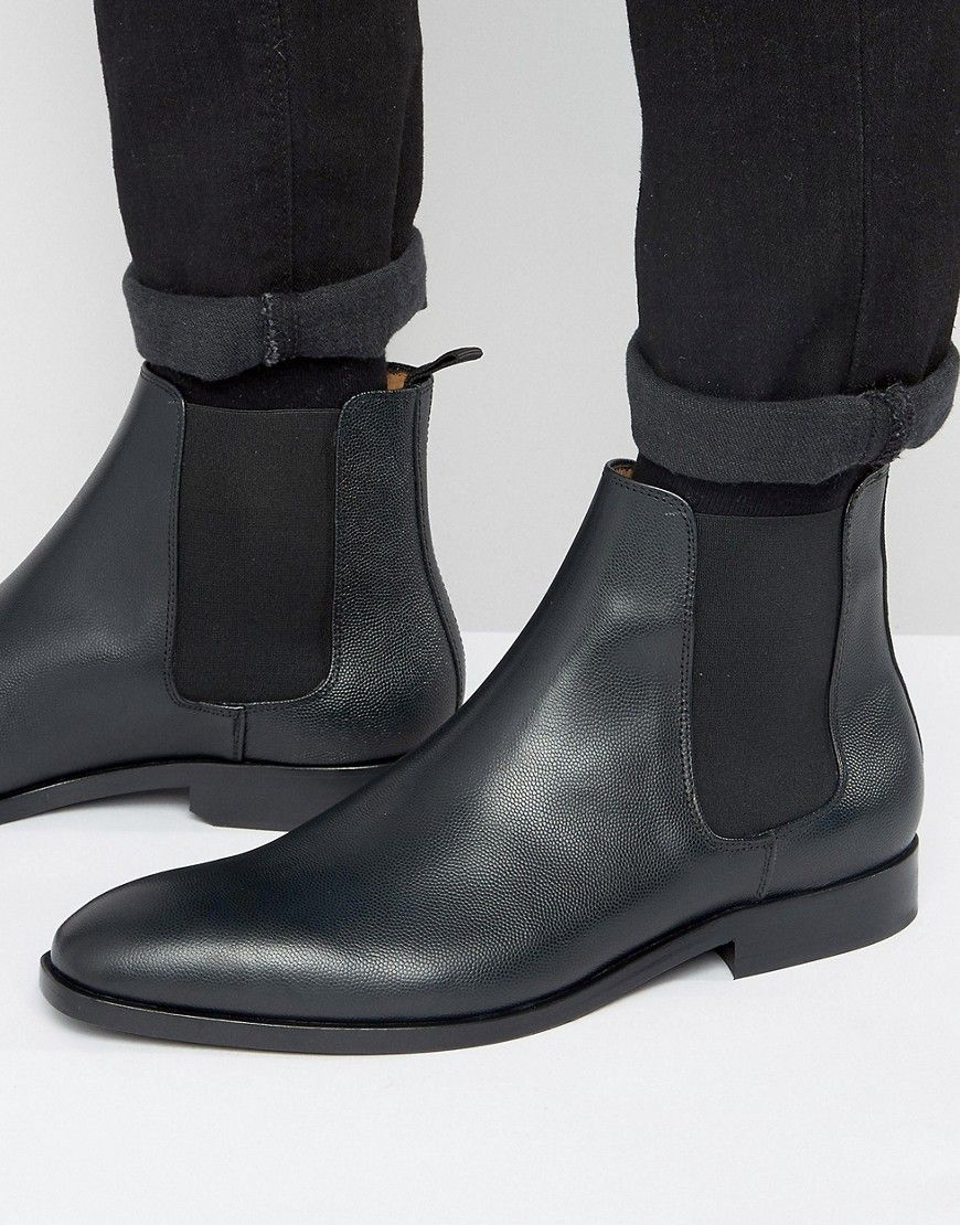 Get this Paul Smith's cowboy boots now! Click for more details. Worldwide  shipping. Paul Smith Gerald Grain Leather Chelsea Boots - Black: Boots by  Paul ...