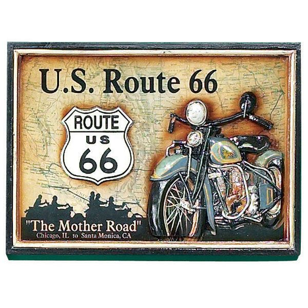 Route 66 Wall Art Sign Pub