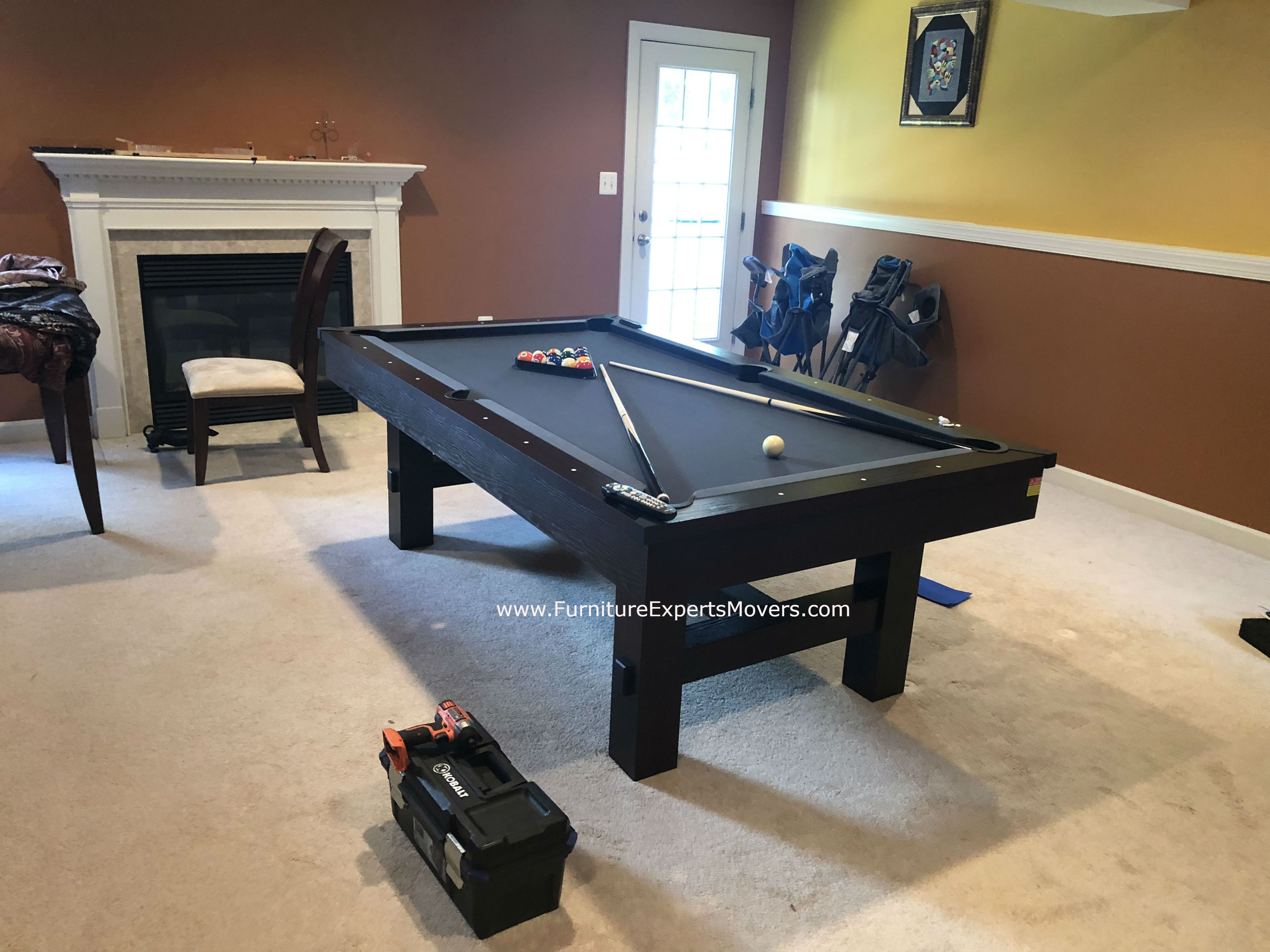BILLIARD POOL TABLE MOVERS Disassembly Relocation Balancing - Pool table movers delaware