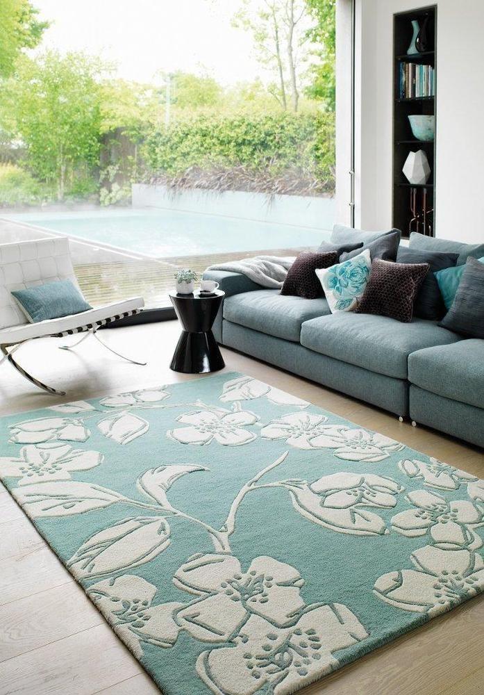 Details Zu Teppich Wohnzimmer Carpet Modernes Design MATRIX DEVORE BLUMEN RUG Wolle Gunstig