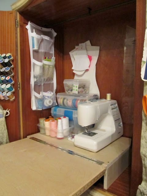 Cottage Hill: DIY Sewing Cabinet Armoire To Sewing Cabinet How To Build