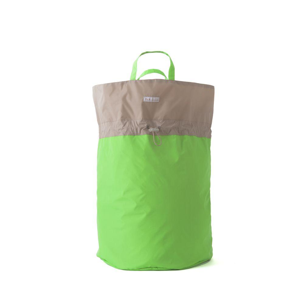 Neon Green & Beige Hamper Bag by 7AM Enfant