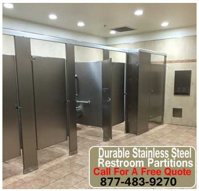 DurableStainlessSteelRestroomPartitions Commercial Restroom - Steel bathroom partitions