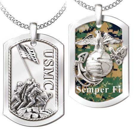 Semper Fi Engraved Necklace