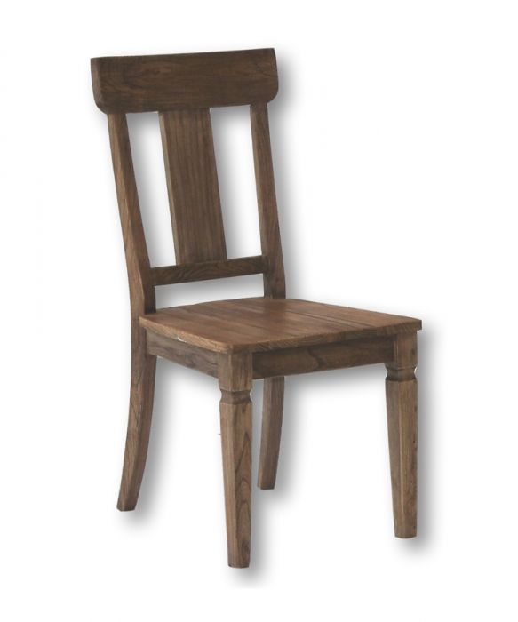 Solid Reclaimed Elm & Pine Wood Emma Side Chair In Natural
