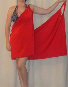 Beach Cover-up Pattern- rectangle with two arm holes... easy beach cover-up