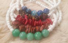 JazzBijoux Bracelet Turquoise Tiger Eye Agate Coral gemstone handmade jewelry