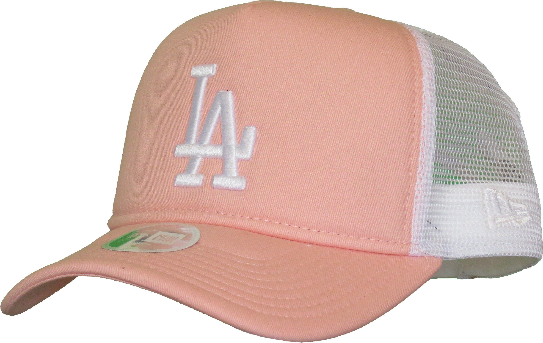 2146163aa39a4f LA Dodgers Womens New Era League Essential Pink Trucker Cap – lovemycap