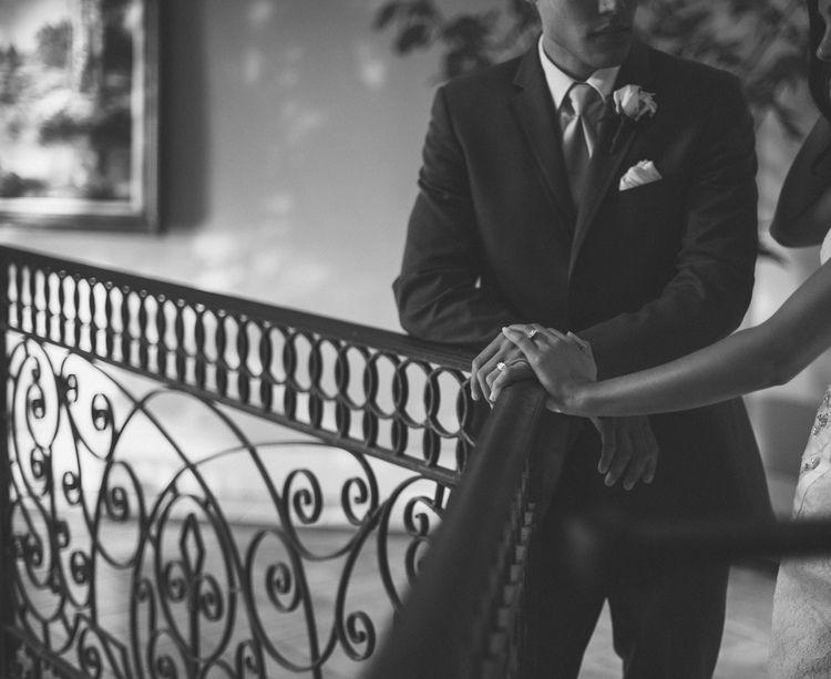 Michael + Angela  www.karanixonweddings.com Second Shot for Celina Kenyon (www.celinakenyon.com)  #brideandgroom #weddingdetails #weddinghour #suitandtie #ringshot #weddingrings #romantics #newportweddingphotographer #turniprose #costamesaweddingphotographer