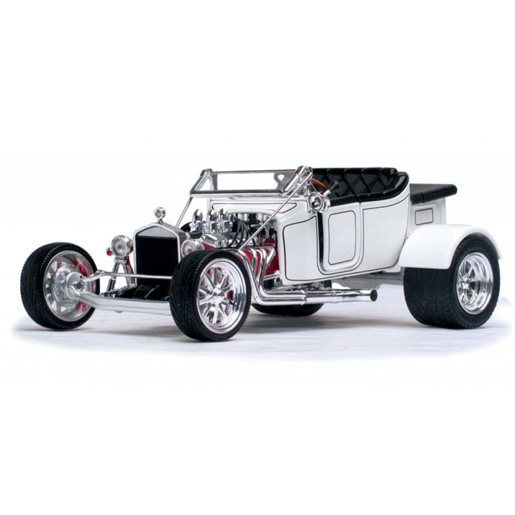 1923 ford t bucket roadster white 1 18 scale diecast model car by