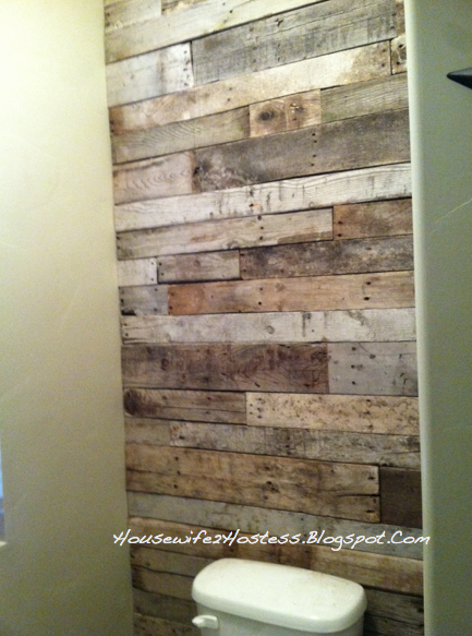 Pallet accent wall pallet ideas pinterest pallet for Pallet shower wall