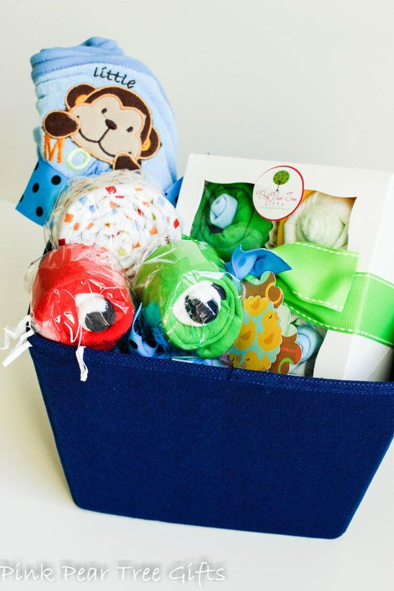 0984200d816b The CUTEST Baby Gift Basket Baby Boy Gift by PinkPearTreeGifts ...