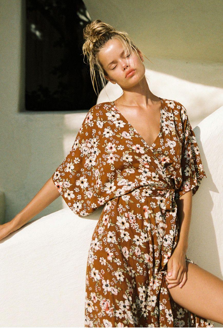 64140b963048a Faithfull The Brand Bergamo Dress in Cecil Rose Print ll Shop Resurrection