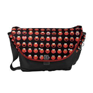 Elmo Emoji Pattern Courier Bag