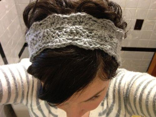 Crocheted Scalloped Headband