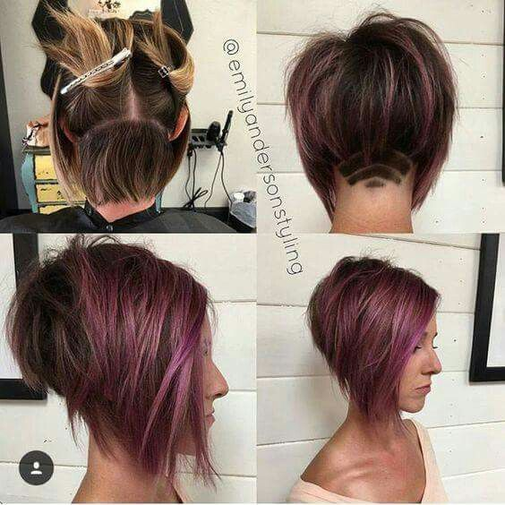 Wow Loved Creative Pattern Shaves Stacked Hairstyles Hair Styles Short Hair Styles
